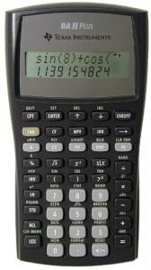 เครื่องคิดเลขเท็กซัส TI BA II Plus